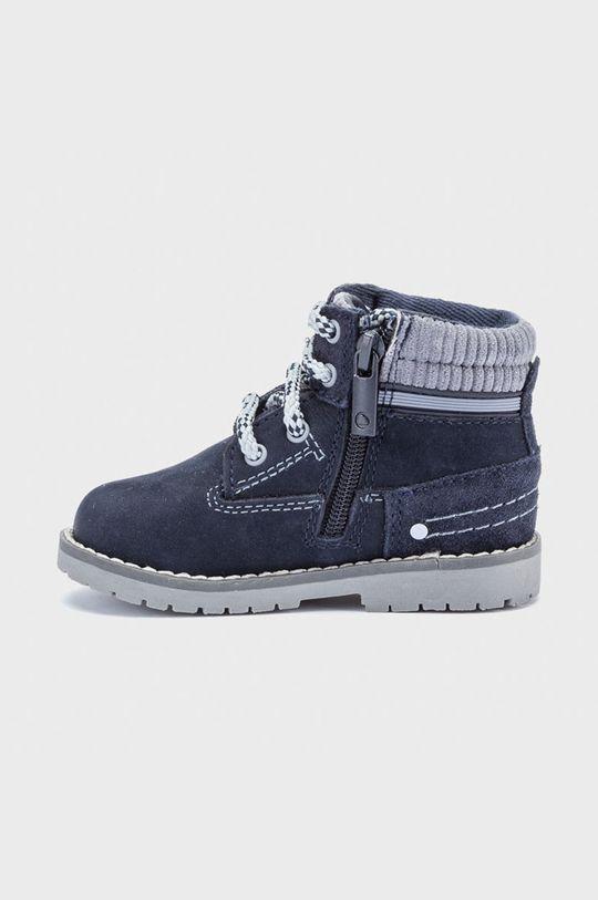 Mayoral - Detské semišové topánky tmavomodrá