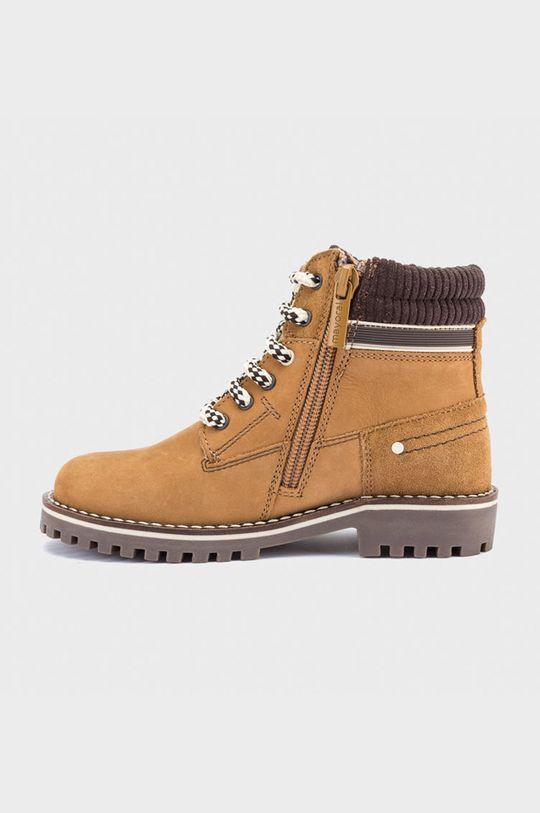 Mayoral - Pantofi din piele intoarsa pentru copii chihlimbar