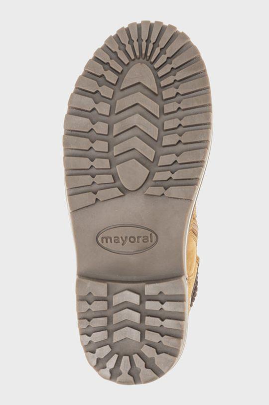 chihlimbar Mayoral - Pantofi din piele intoarsa pentru copii