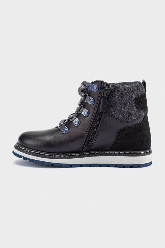 Mayoral - Detské kožené topánky čierna