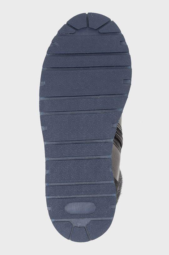 čierna Mayoral - Detské kožené topánky