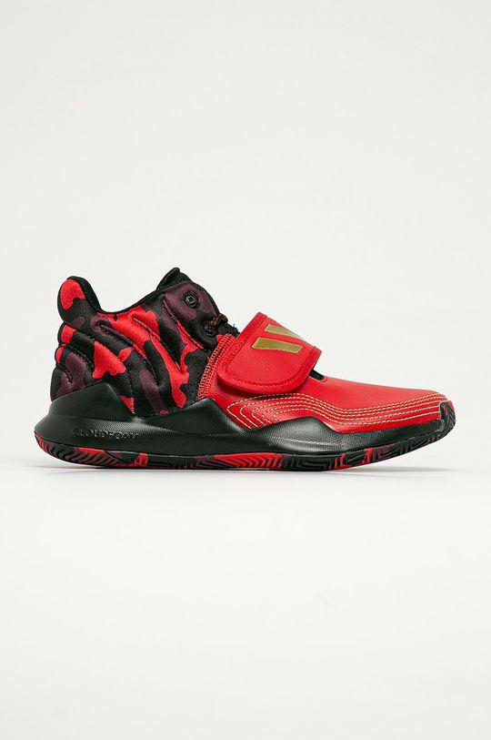 czerwony adidas Performance - Buty dziecięce Deep Threat J Chłopięcy