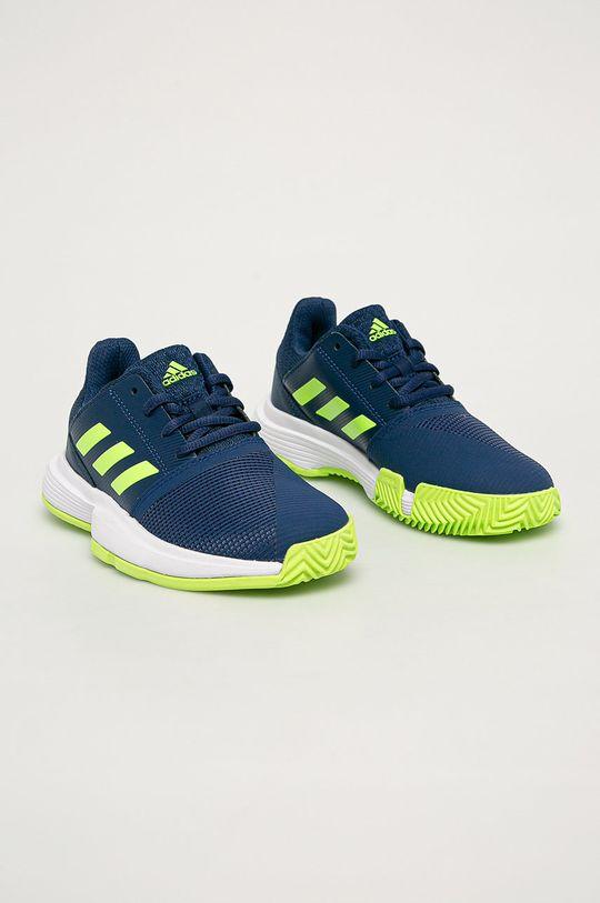 adidas Performance - Detské topánky CourtJam xJ tmavomodrá