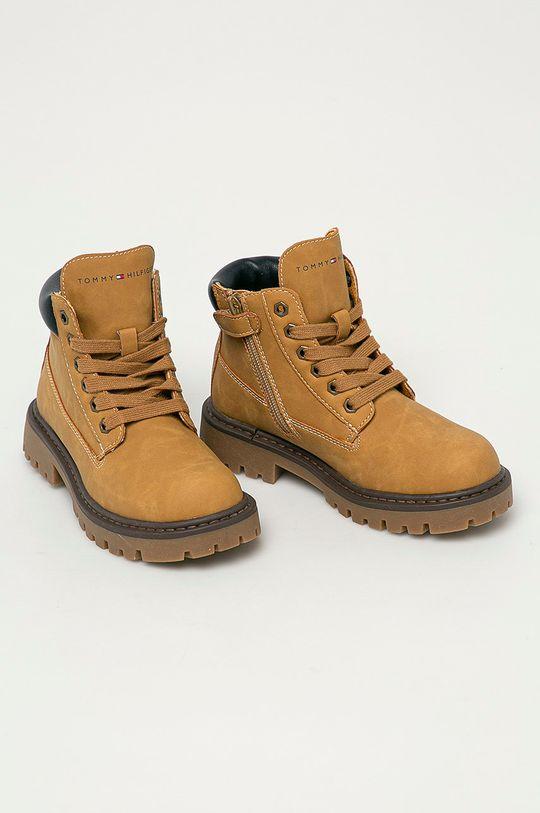 Tommy Hilfiger - Dětské boty jantarová