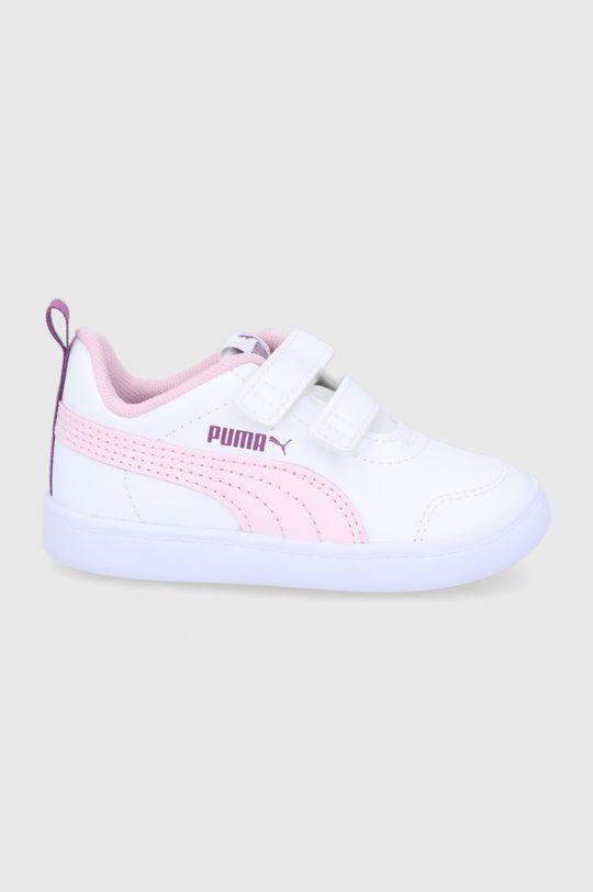 bílá Puma - Dětské boty Courtflex v2 V Inf Chlapecký