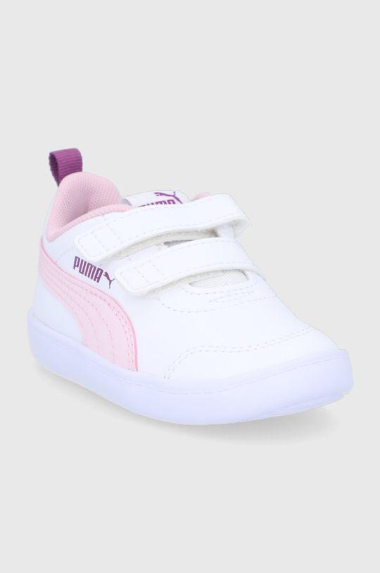 Puma - Dětské boty Courtflex v2 V Inf bílá
