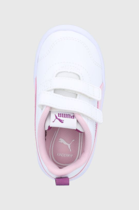 bílá Puma - Dětské boty Courtflex v2 V Inf