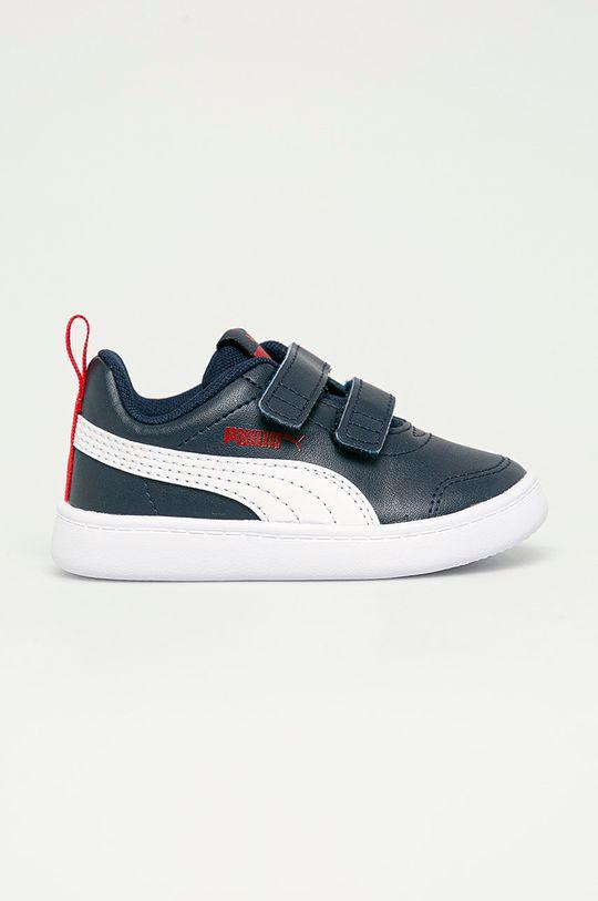 tmavomodrá Puma - Detské topánky Courtflex v2 V Inf Chlapčenský
