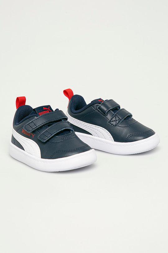Puma - Detské topánky Courtflex v2 V Inf tmavomodrá