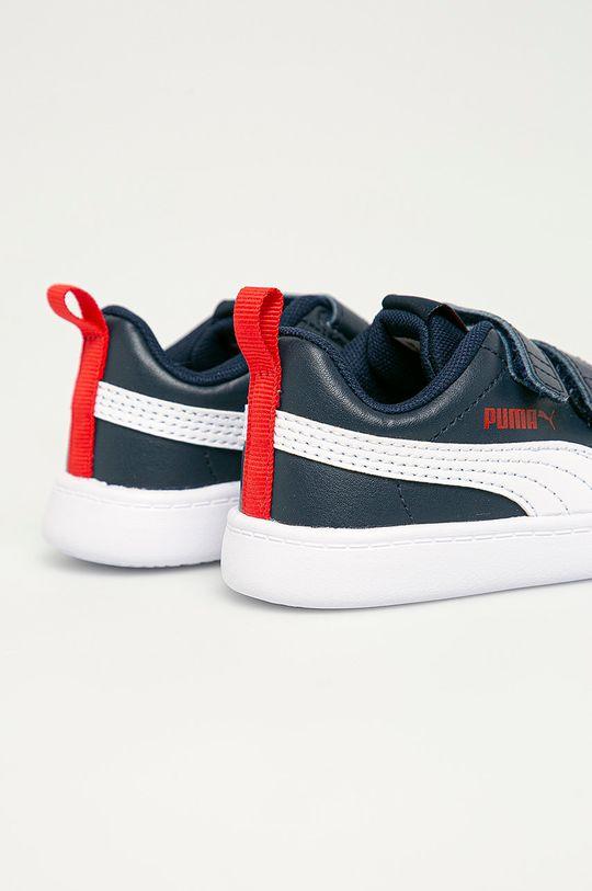 Puma - Detské topánky Courtflex v2 V Inf  Zvršok: Syntetická látka Vnútro: Textil Podrážka: Syntetická látka