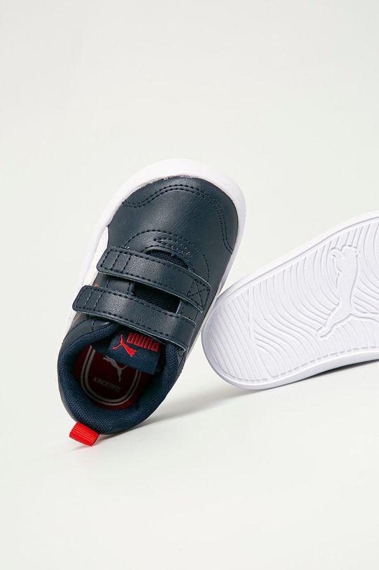 tmavomodrá Puma - Detské topánky Courtflex v2 V Inf