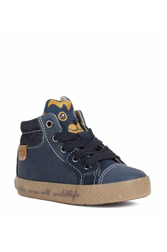 Geox - Dětské kožené boty námořnická modř