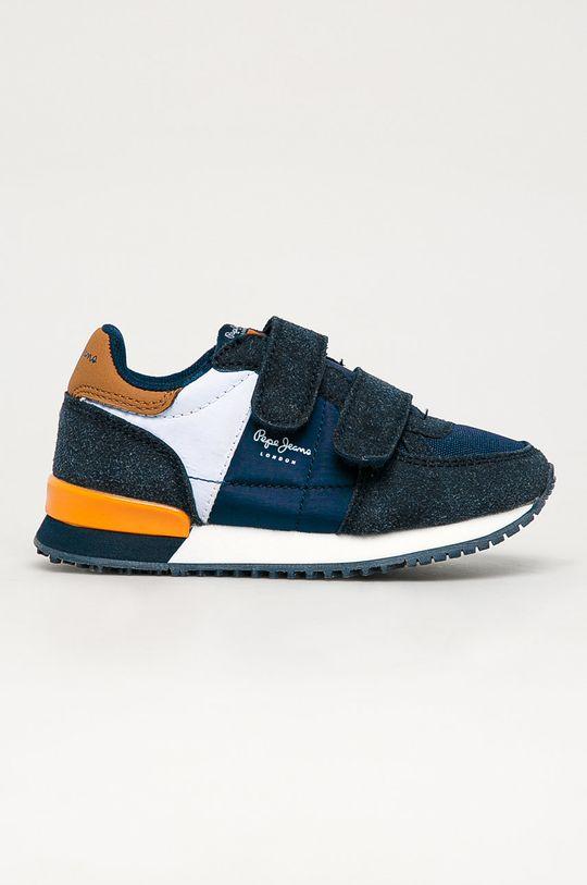 tmavomodrá Pepe Jeans - Detské topánky Sydney Chlapčenský
