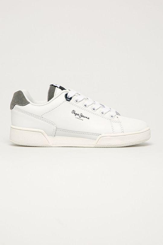 bílá Pepe Jeans - Dětské kožené boty Lambert Basic Chlapecký