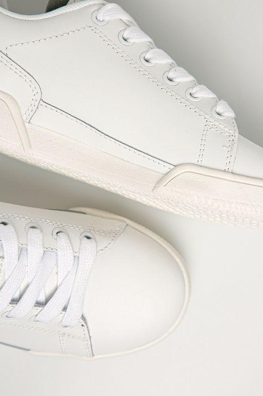 bílá Pepe Jeans - Dětské kožené boty Lambert Basic