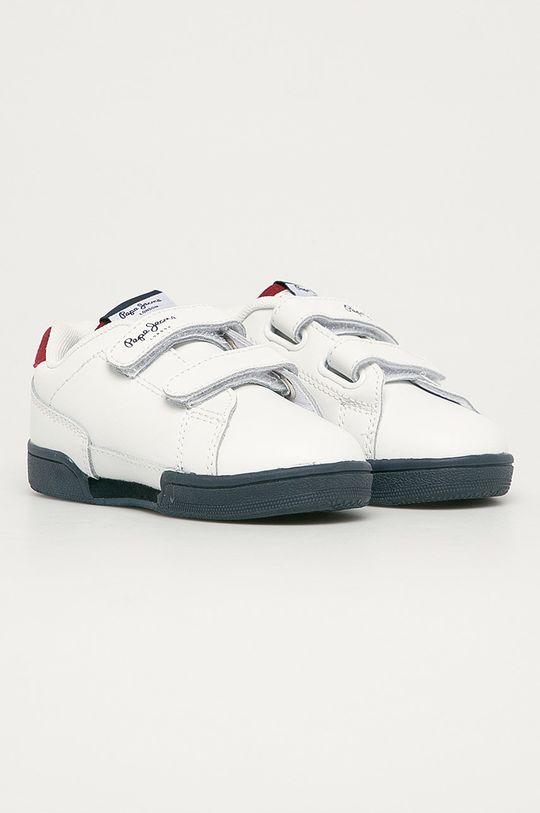 Pepe Jeans - Detské topánky Velcro biela