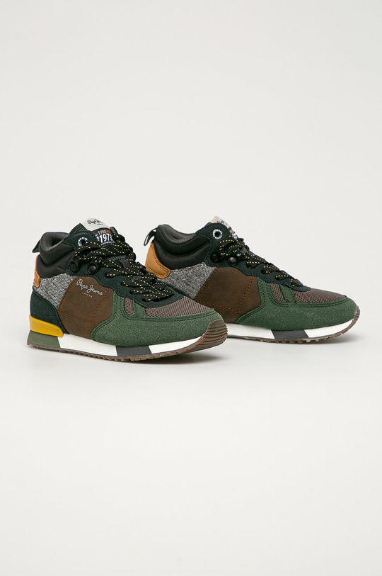 Pepe Jeans - Pantofi copii Syndey verde murdar