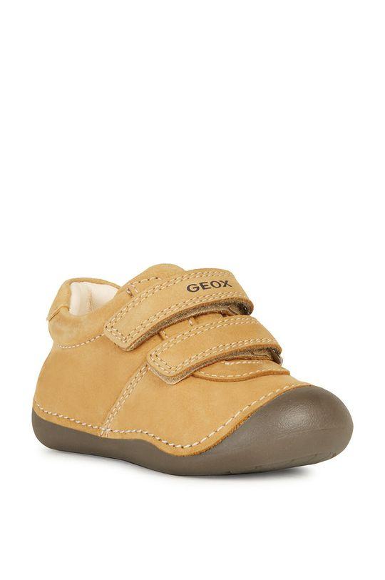 Geox - Półbuty dziecięce bursztynowy