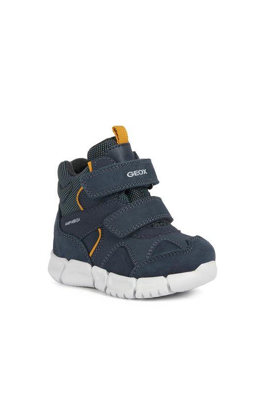 Geox - Detské kožené topánky tmavomodrá