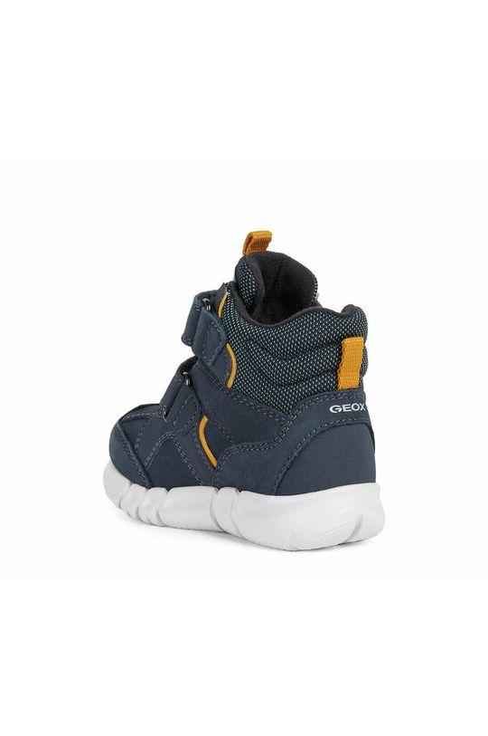 tmavomodrá Geox - Detské kožené topánky
