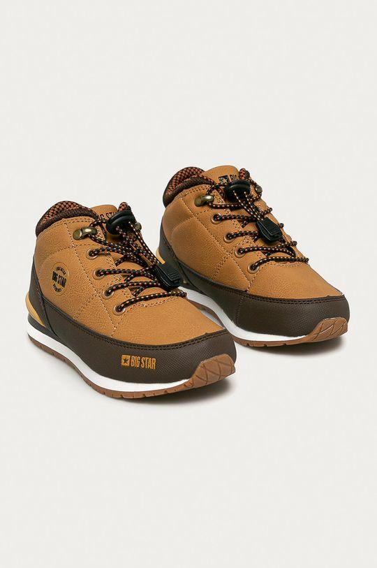 Big Star - Pantofi copii maro auriu