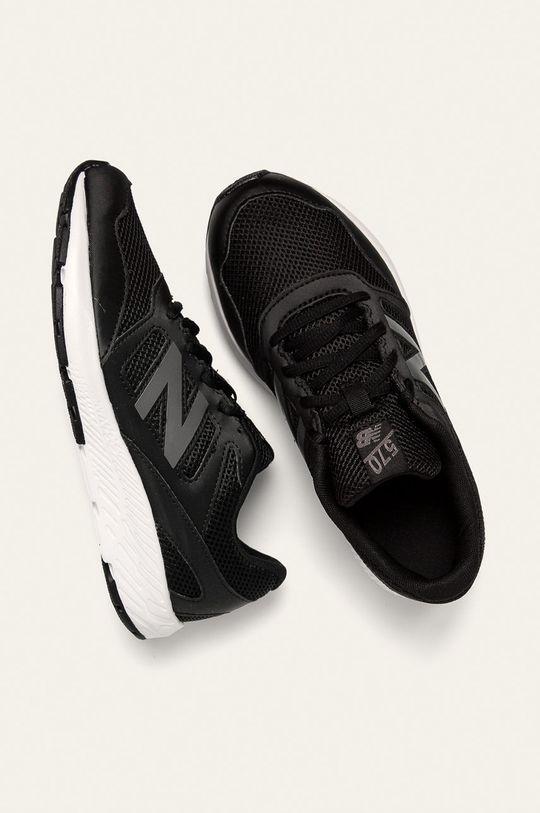New Balance - Detské topánky YK570BK  Zvršok: Syntetická látka, Textil Vnútro: Textil Podrážka: Syntetická látka