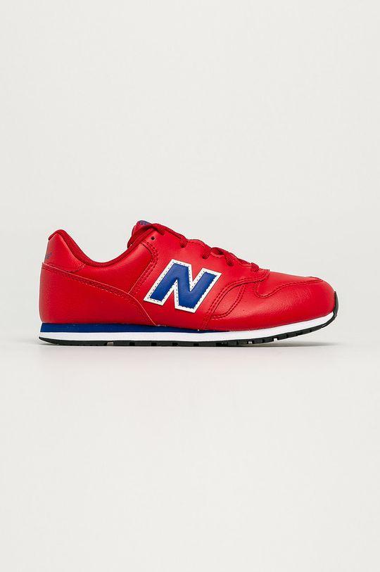 červená New Balance - Dětské boty YC373ERB Chlapecký
