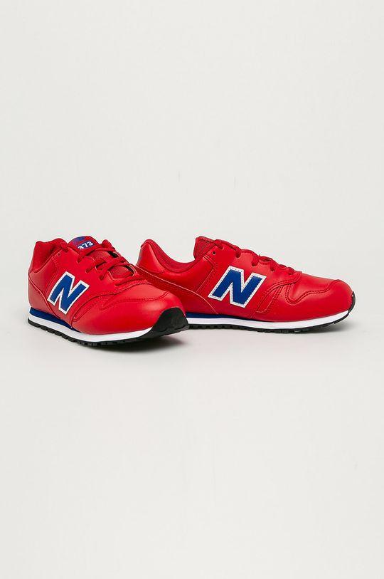 New Balance - Dětské boty YC373ERB červená