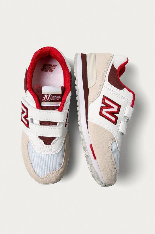 biały New Balance - Buty dziecięce YV574NLA