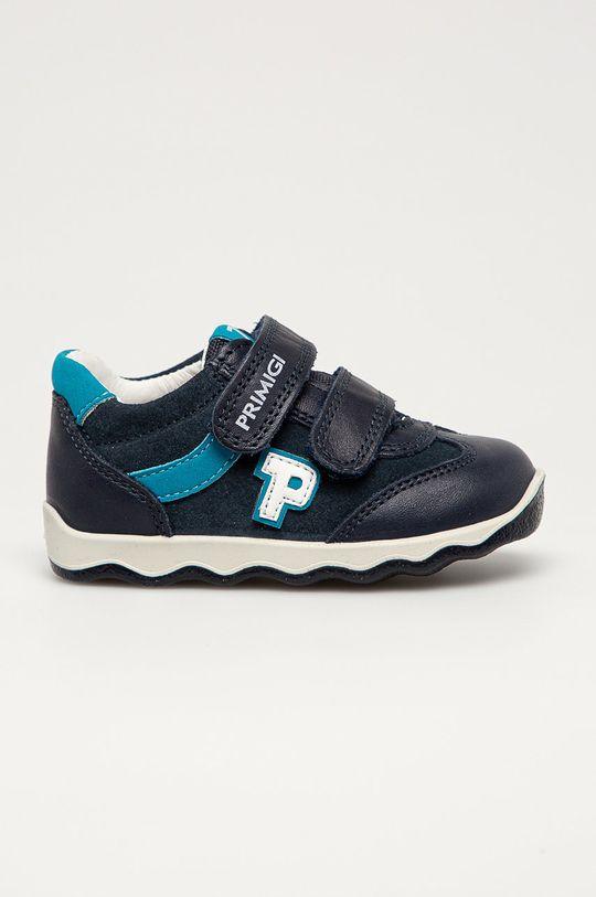 námořnická modř Primigi - Dětské kožené boty Chlapecký