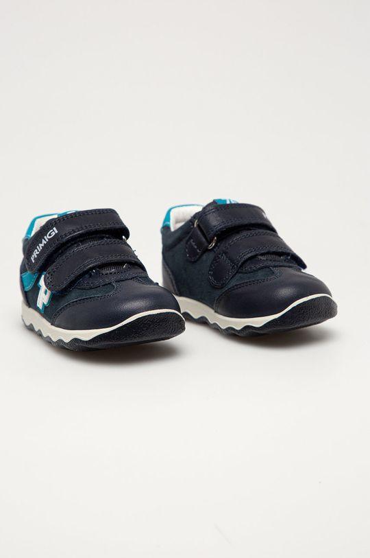 Primigi - Dětské kožené boty námořnická modř