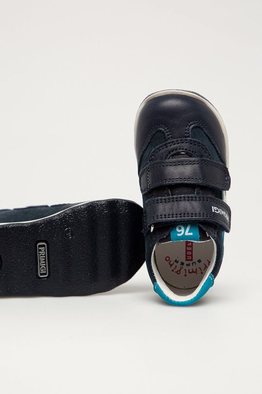 námořnická modř Primigi - Dětské kožené boty