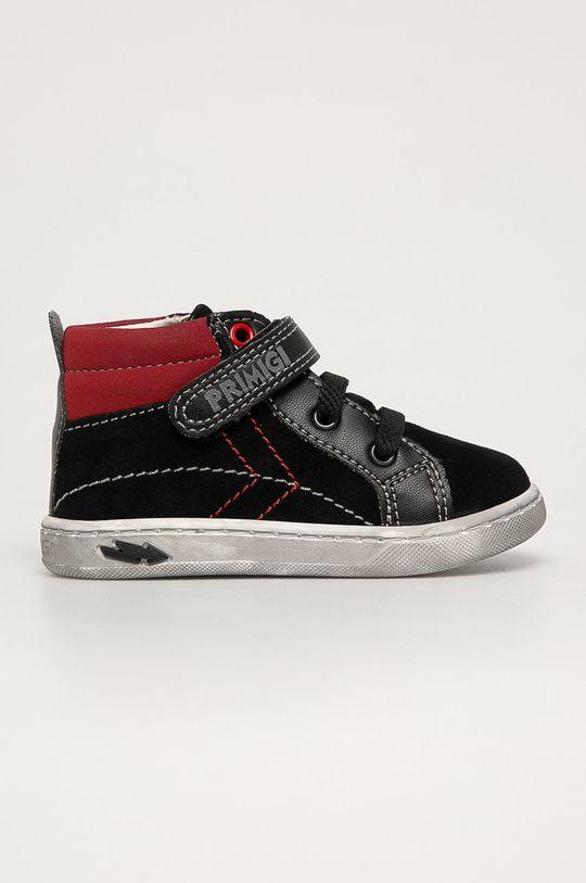 čierna Primigi - Detské semišové topánky Chlapčenský