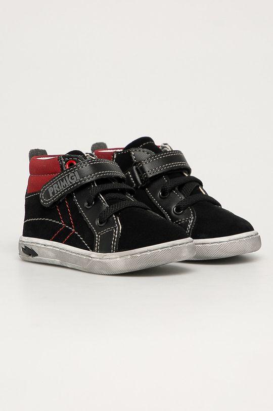 Primigi - Detské semišové topánky čierna