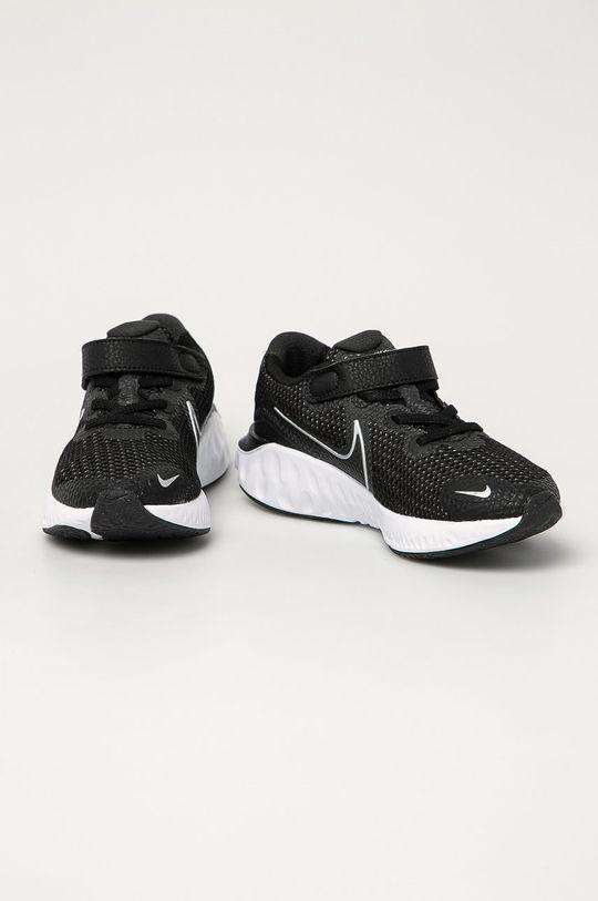 Nike Kids - Detské topánky Renew Run čierna