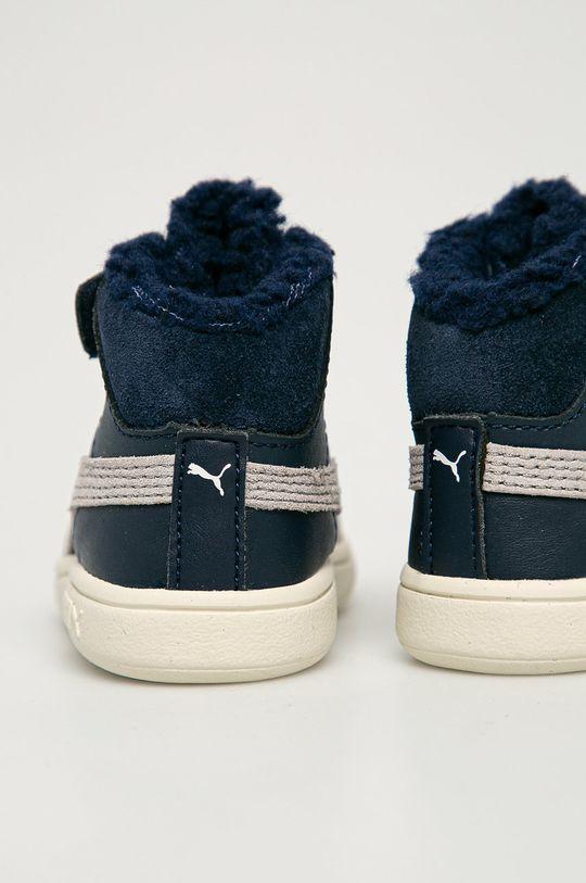 Puma - Detské topánky Smash v2 Mid L Fur V Inf  Zvršok: Syntetická látka, Prírodná koža Vnútro: Textil Podrážka: Syntetická látka