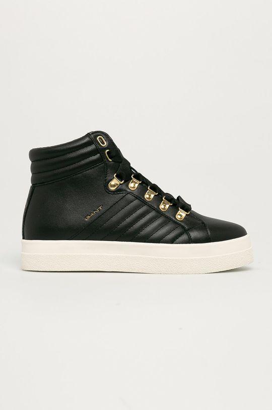 čierna Gant - Kožená obuv Avona Dámsky