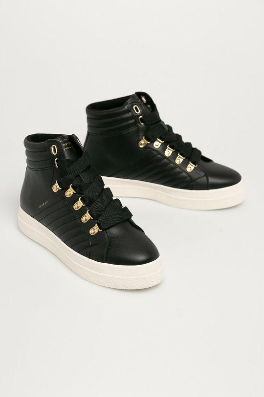 Gant - Kožená obuv Avona čierna