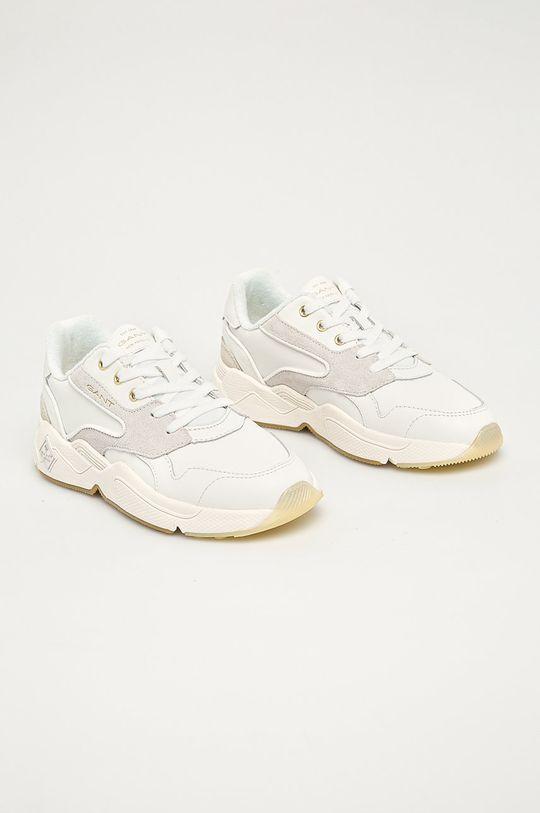 Gant - Buty skórzane Nicewill biały