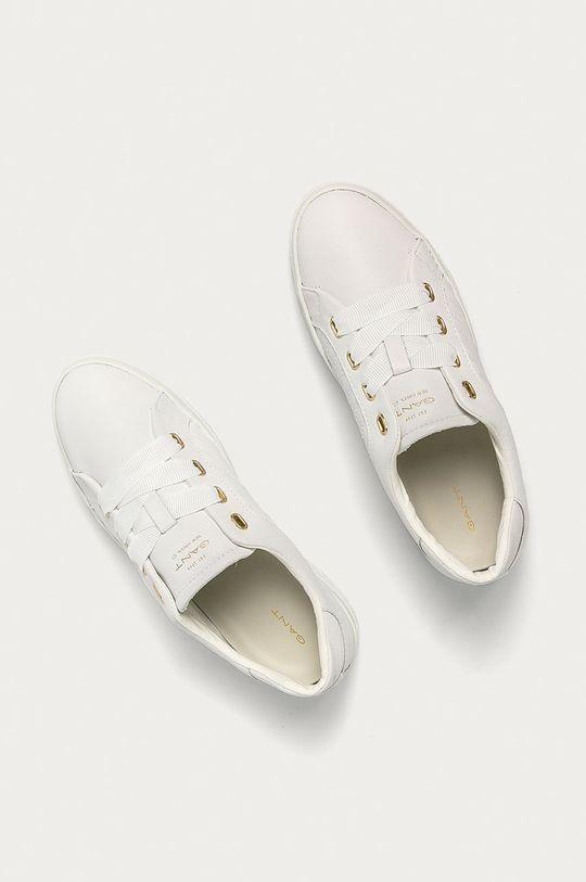 biela Gant - Kožená obuv Avona