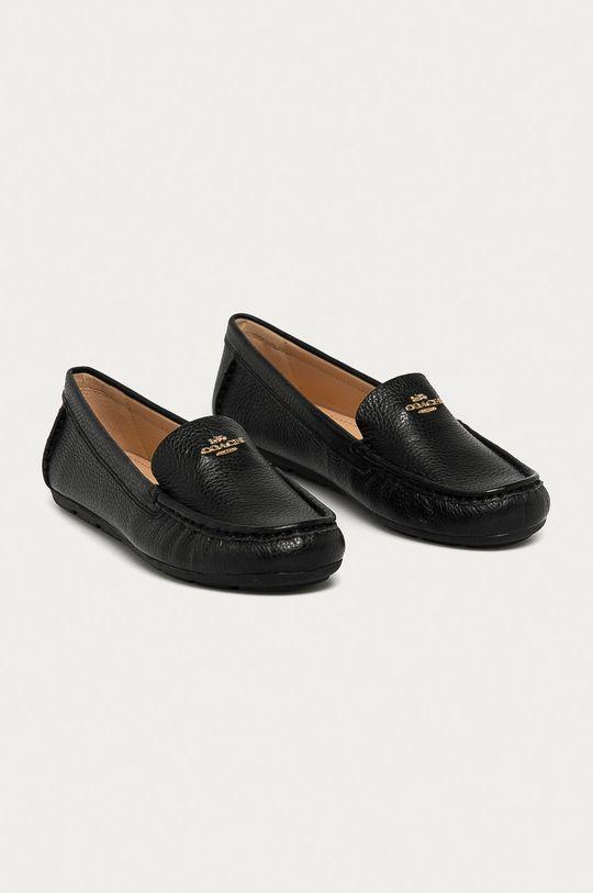 Coach - Kožené mokasíny čierna
