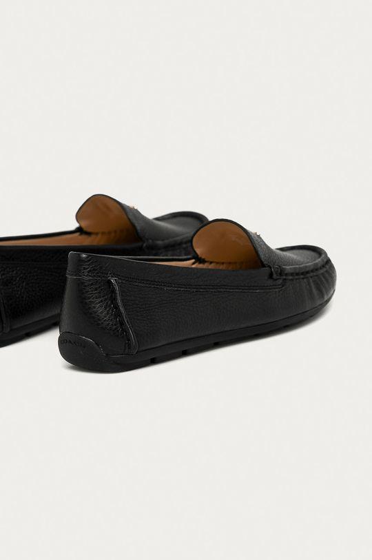 čierna Coach - Kožené mokasíny