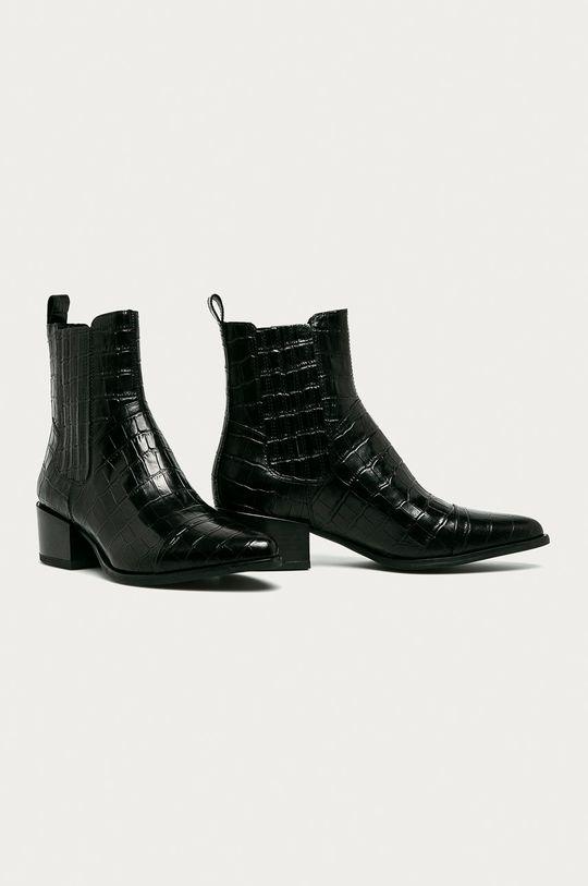 Vagabond - Westernové kožené boty Marja černá