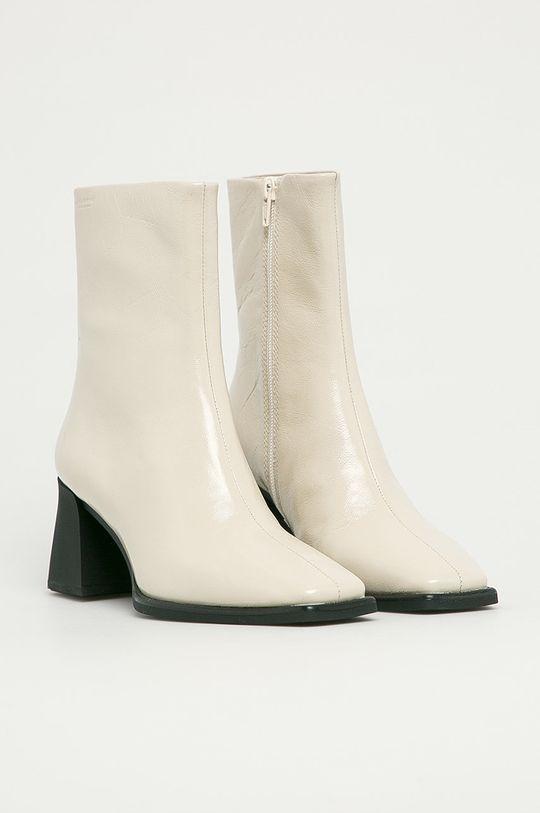 Vagabond - Kožené kotníkové boty Hedda bílá