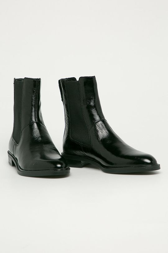 Vagabond - Kožené kotníkové boty Frances černá