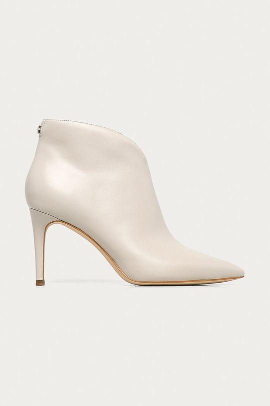 písková Guess Jeans - Kožené kotníkové boty Dámský