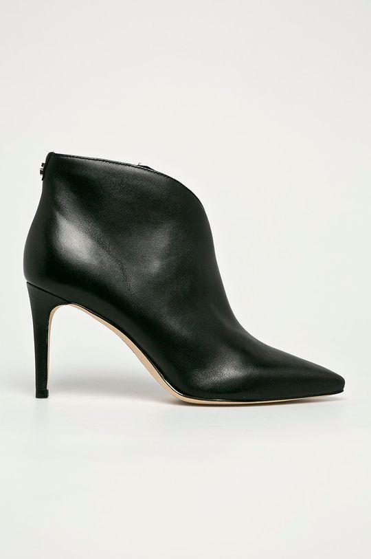 чорний Guess Jeans - Шкіряні черевики Жіночий