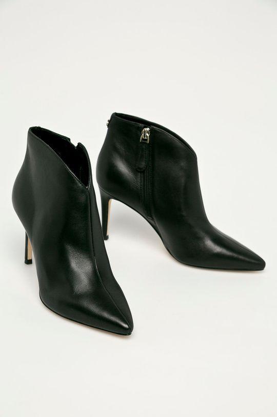 Guess Jeans - Шкіряні черевики чорний