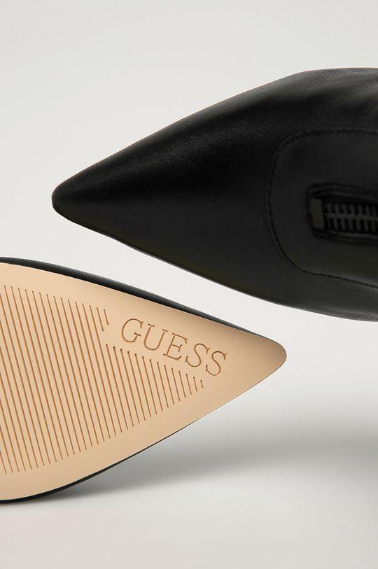 Guess Jeans - Kožené kotníkové boty Dámský