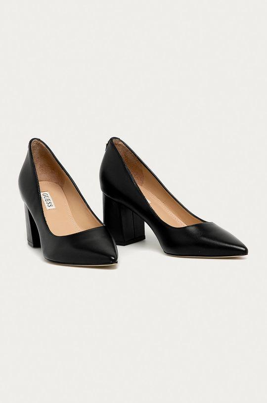 Guess Jeans - Шкіряні туфлі чорний